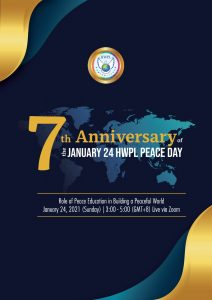 Inter-continental Conference for Culture of Peace through Education Will Be Held Online
