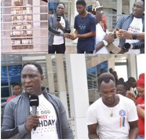 Video : Christ Mercyland Prophet Jeremiah Fufeyin dished out 10million Naira to  support supers stars Mamuze brothers and other